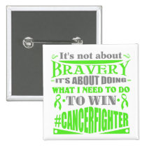 Non-Hodgkins Lymphoma Cancer Not About Bravery 2 Inch Square Button
