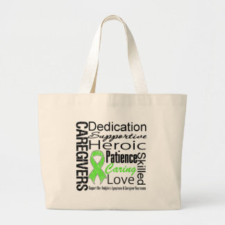 Non Hodgkins Lymphoma Caregivers Collage Tote Bags