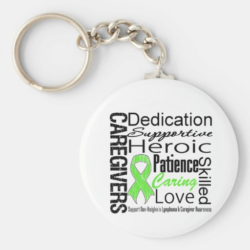 Non Hodgkins Lymphoma Caregivers Collage Keychains