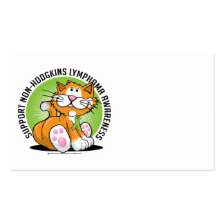 Non Hodgkins Lymphoma Cat Business Card