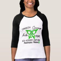 Non-Hodgkins Lymphoma Celtic Butterfly 3 T-Shirt