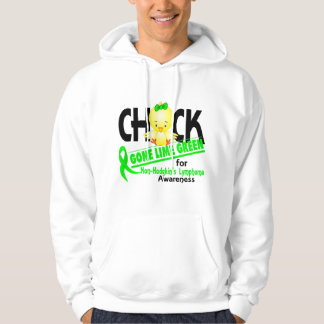 Non-Hodgkin's Lymphoma Chick Gone Lime Green 2 Hoodie
