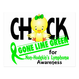 Non-Hodgkin's Lymphoma Chick Gone Lime Green 2 Postcard