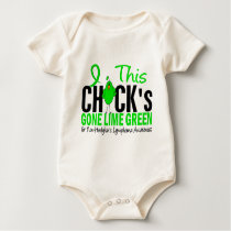 NON-HODGKINS LYMPHOMA Chick Gone Lime Green Baby Bodysuit
