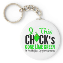 NON-HODGKINS LYMPHOMA Chick Gone Lime Green Keychain