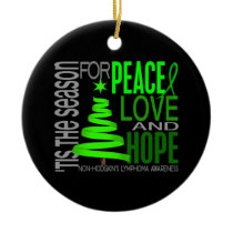 Non-Hodgkin's Lymphoma Christmas 1 Ornaments