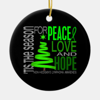 Non-Hodgkin's Lymphoma Christmas 1 Ornaments