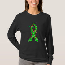 Non-Hodgkin's Lymphoma Christmas Lights Ribbon T-Shirt