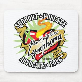 Non-Hodgkins Lymphoma Classic Heart Mouse Pad