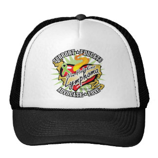 Non-Hodgkins Lymphoma Classic Heart Trucker Hat
