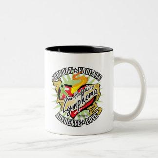 Non-Hodgkins Lymphoma Classic Heart Two-Tone Coffee Mug