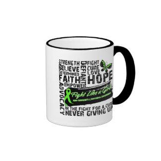 Non-Hodgkin's Lymphoma Collage - Fight Like a Girl Ringer Coffee Mug