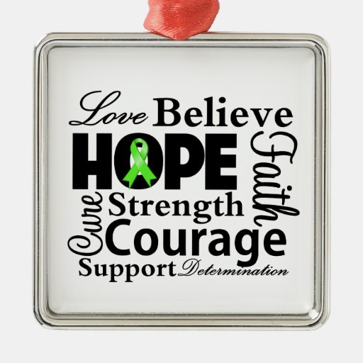 Non-Hodgkins Lymphoma Collage of Hope Christmas Tree Ornaments