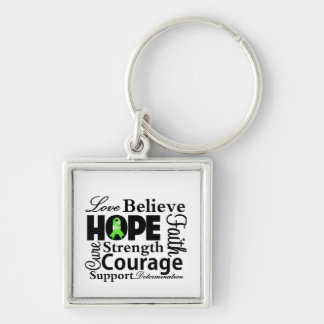 Non-Hodgkins Lymphoma Collage of Hope Silver-Colored Square Keychain