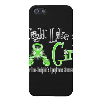Non-Hodgkins Lymphoma Cool Retro Fight Like a Girl iPhone 5/5S Cases