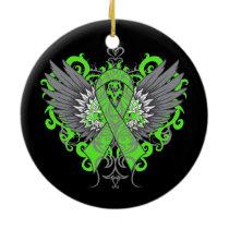 Non-Hodgkins Lymphoma Cool Wings Ceramic Ornament