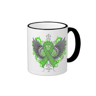 Non-Hodgkins Lymphoma Cool Wings Ringer Coffee Mug