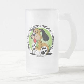 Non-Hodgkins Lymphoma Dog Frosted Glass Beer Mug