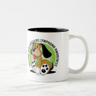 Non-Hodgkins Lymphoma Dog Two-Tone Coffee Mug