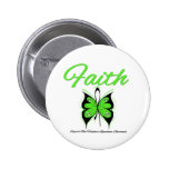 Non Hodgkins Lymphoma Faith Butterfly Ribbon 2 Inch Round Button