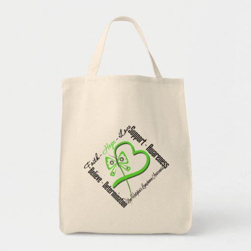 Non Hodgkins Lymphoma Faith Hope Love Butterfly Tote Bags