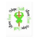 Non-Hodgkins Lymphoma Faith Hope Love Cross Post Card