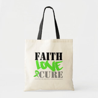 Non-Hodgkins Lymphoma Faith Love Cure Tote Bags