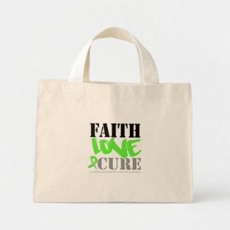 Non-Hodgkins Lymphoma Faith Love Cure Mini Tote Bag