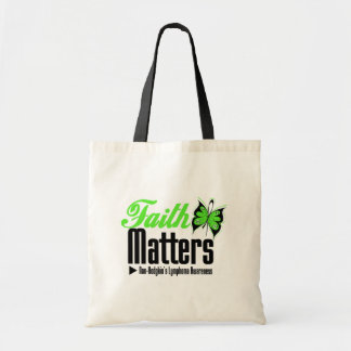 Non Hodgkins Lymphoma FAITH MATTERS Budget Tote Bag