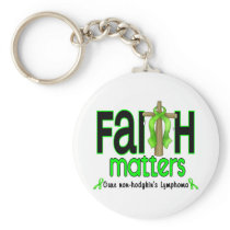 Non-Hodgkins Lymphoma Faith Matters Cross 1 Keychain