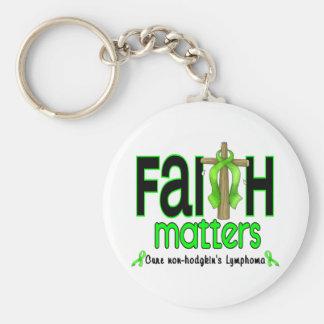 Non-Hodgkins Lymphoma Faith Matters Cross 1 Keychain