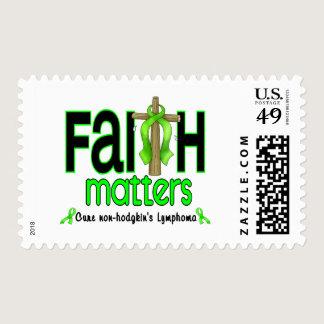 Non-Hodgkins Lymphoma Faith Matters Cross 1 Postage