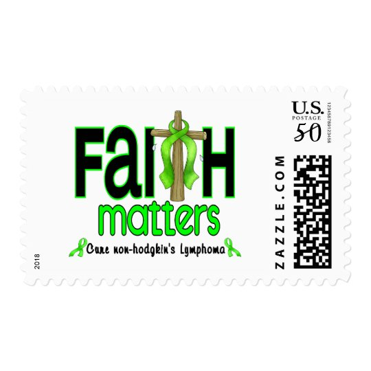 Non-Hodgkins Lymphoma Faith Matters Cross 1 Postage