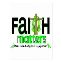 Non-Hodgkins Lymphoma Faith Matters Cross 1 Postcard