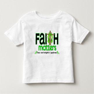 Non-Hodgkins Lymphoma Faith Matters Cross 1 Toddler T-shirt