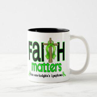 Non-Hodgkins Lymphoma Faith Matters Cross 1 Two-Tone Coffee Mug