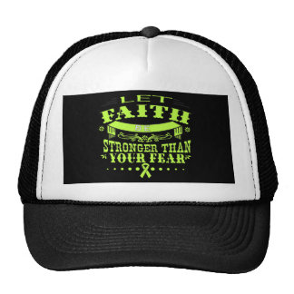 Non-Hodgkins Lymphoma Faith Stronger than Fear Trucker Hat