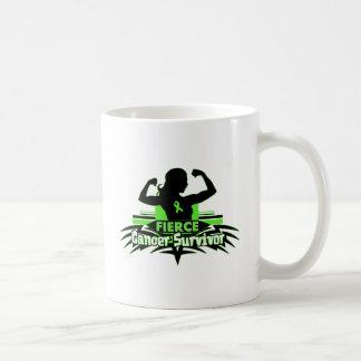 Non-Hodgkin's Lymphoma Fierce Cancer Survivor Classic White Coffee Mug