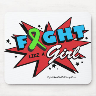 Non-Hodgkin's Lymphoma  Fight Like A Girl POW Mouse Pad