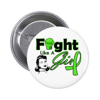 Non-Hodgkin's Lymphoma Fight Like A Girl - Retro G Buttons