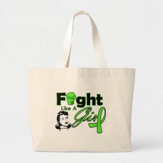 Non-Hodgkin's Lymphoma Fight Like A Girl - Retro G Jumbo Tote Bag