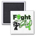 Non-Hodgkins Lymphoma Fight Like A Girl Silhouette Refrigerator Magnet