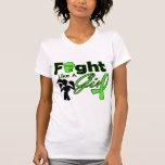 Non-Hodgkins Lymphoma Fight Like A Girl Silhouette Tanktop