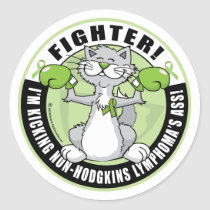 Non-Hodgkins Lymphoma Fighter Classic Round Sticker