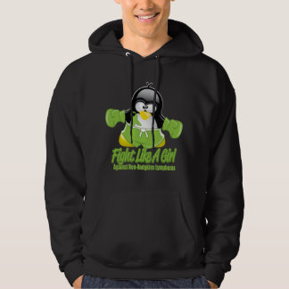 Non Hodgkin's Lymphoma Fighting Penguin Hoodie