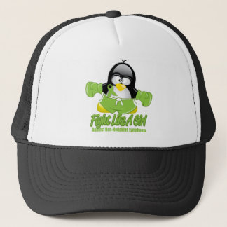 Non Hodgkin's Lymphoma Fighting Penguin Trucker Hat