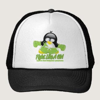Non Hodgkin's Lymphoma Fighting Penguin Trucker Hat