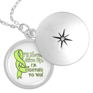 Non-Hodgkins Lymphoma Fighting To Win Round Locket Necklace