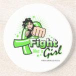 Non-Hodgkin's Lymphoma Fist - Fight Like a Girl Beverage Coasters