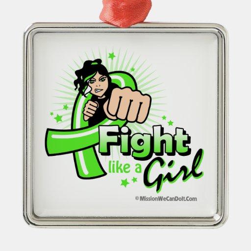 Non-Hodgkin's Lymphoma Fist - Fight Like a Girl Christmas Tree Ornament